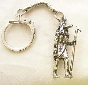 Egyptian God Anubis Key-ring, Keychain in Fine English Pewter, Handmade