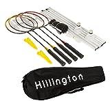 Best Badminton Nets - Hillington ® Complete 4 Player Badminton Tournament Set Review