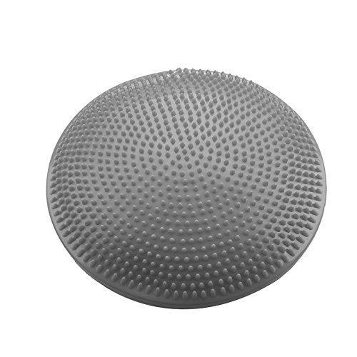 SODIAL(R) Yoga Stabilitaet Balance Board Disc Gym uebung Wackeln Knoechel Knie Luftpolster Pad, grau