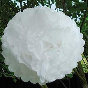 Talking Tables Something in The Air - Pompon in carta, confezione da 5 pezzi, colore: Bianco