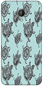 Snoogg Seamless Pattern With Turtles Seamless Pattern Can Be Used For Wallpaper Designer Protective Back Case Cover For Micromax Canvas Spark Q380
