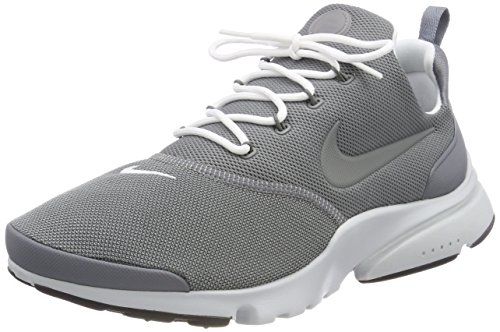 Nike Presto Fly, Sneakers Basses Homme, Gris (Gris Froid/Platine Pur/Noir/Blanc 012), 45 EU