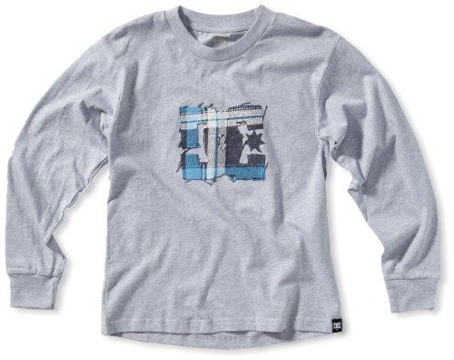 DC Shoes T-shirt per bambini a maniche lunghe rilassarsi BY, Grigio (grigio), S
