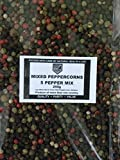 Mixed Peppercorns - Five Pepper Mix Whole Peppercorns Black White Green Red Peppercorns and Allspice 200g