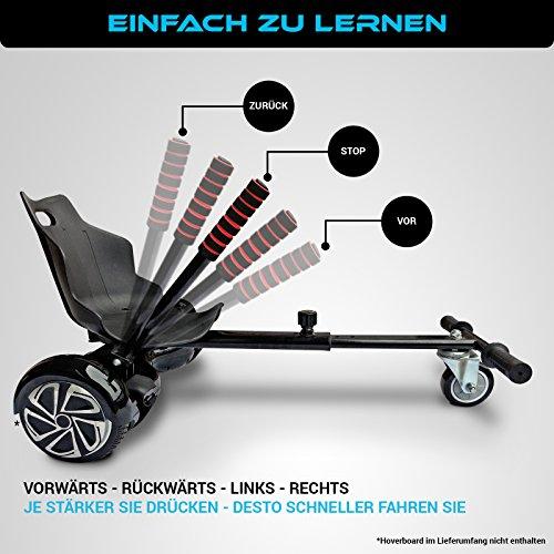 Bluewheel Hovokart HK200 Sitz Erweiterung für 6, 5 - 10 Zoll Hoverboard, E-Kart, Elektro Go-Kart, Sitzaufsatz, Schalensitz & Umbausatz, anpassbarer Stahl-Rahmen - 5