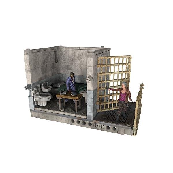 AMC The Walking Dead MC Farlane - Superior Célula de la prisión 14607 - 96 Piezas Cárcel célula con 2 Figuras 1
