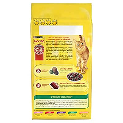 Go-Cat Crunchy and Tender Cat Food Beef, 1.5 kg from Nestle