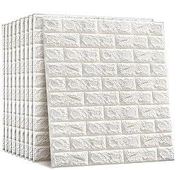 10 Blatt 3D Stereo Aufkleber kasi Tapete Wand Dekor Aufkleber Ziegel Wasserdicht 3D Design für Heimtextilien