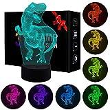 Regalo di Compleanno di Jeudy per Ragazze, Giocattoli notturni di Dinosauro 3D per Bambini di 3-8 Anni Regalo di Ragazze di 3-8 Anni Camera da Letto Decorazioni Lampada per Ragazze di 3-8 Anni