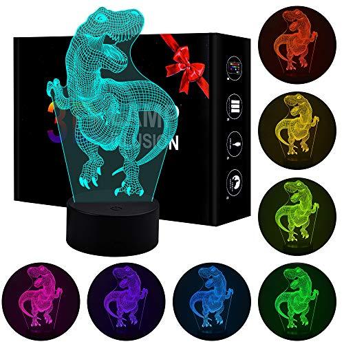 Jeudy Cadeau d'anniversaire pour Les garçons, Jouets de lumière de Nuit de Dinosaure 3D pour 3-8...