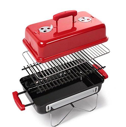 Kohlegrill Im Freien Bequem Nichtraucherhaushalt Klappgrillofen Ofen 3-5 Rot