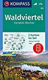 Waldviertel, Kamptal, Wachau: 2 Wanderkarten 1:50000 im Set inklusive Karte zur offline Verwendung in der KOMPASS-App. Fahrradfahren. (KOMPASS-Wanderkarten, Band 203) -