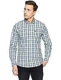 Wrangler Men's Checkered Regular Fit Casual Shirt