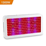 1300W Pflanzenlampen Pflanzenlicht LED Grow Light, LED Pflanzenlampe Vollspektrum Wachstum für Gewächshaus Pflanze, Zimmerpflanzen, Gemüse, Blumen, Obst, Growbox
