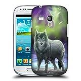 Head Case Designs Offizielle Anne Stokes Aura Wölfe Ruckseite Hülle für Samsung Galaxy S3 III Mini