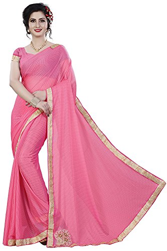 TRYme Fashion Women's Latest Designer Party Wear New Collection Chanderi Cotton Bollywood Embroidered Latest Saree Collection 2018 Saree for Women with Bangalore Silk Unstitched Blouse  available at amazon for Rs.299