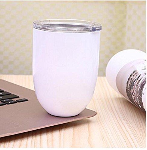 dingsheng Stahl Edelstahl ohne Stiel Wein Gläser Ei Form 10oz-stainless-steel-wine-tumbler-rambler-cup-double-wall-insulated-goblet-w-lid weiß