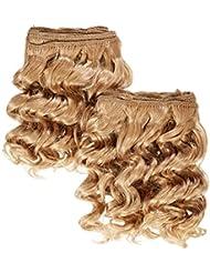 chear Deep Wave 2en 1trame Extension de cheveux humains avec de mélange tissage numéro 27, auburn clair 20cm