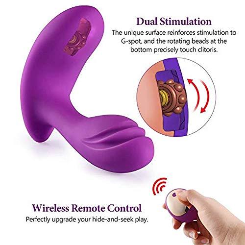 EUEUEING-VI Silicone skin-friendly, USB Mini massaggiatore da vibrazione invisibile Dual USB ricaricabile