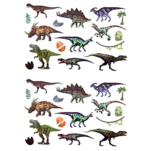 Oblique Unique® Kinder Dino Tattoos 32 Stück Farbenfroh Temporär Dinosaurier Tattoo zum Spielen Spielspass für Jungs zum Kindergeburtstag (Idee Tattoo)