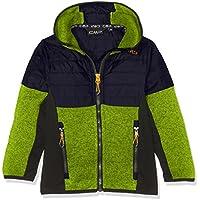 CMP Punto Hybrid Joven 3h65874Chaqueta, Otoño-Invierno, niño, Color Lime Green-Antracite, tamaño 128