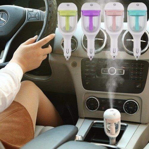 PAGALYetrade Cool Mist Air Purifier Portable Car Plug Air Humidifier