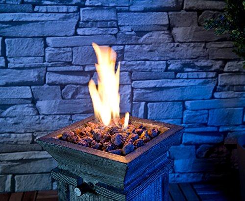 Carlo Milano Feuerschale: Kompaktes Gas-Heiz- & Dekofeuer für Terrasse und Garten (Gaskamin); - 5