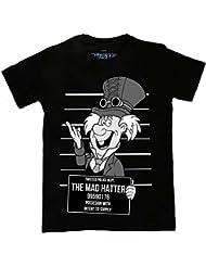 Twisted Punk Disney Alternatif Steampunk Mad Hatter Mug Shot Tatouage gothique T Shirt