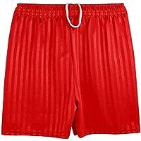 MENS Boys Girls Unisex Shadow Stripe Gym Sports Football Games School PE Shorts