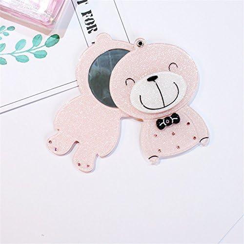 Weekendy Jouet drôle de bébé Mini Ours Ours Ours Simple Motif Petit Miroirs en Verre Cercles pour Artisanat Décoration Accessoire Cosmétique 9c1aa6