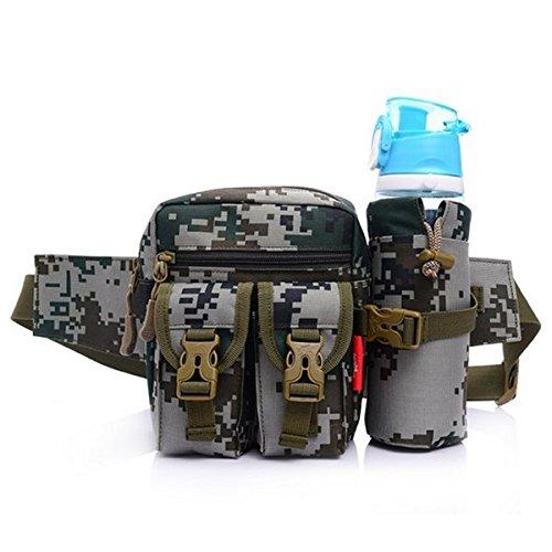 Sport Hôfttasche Wasserflasche Tasche fôr das Wandern Klettern Reiten Braun