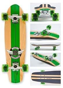 Mindless Campus V-Tail Longboard - Green ML9800