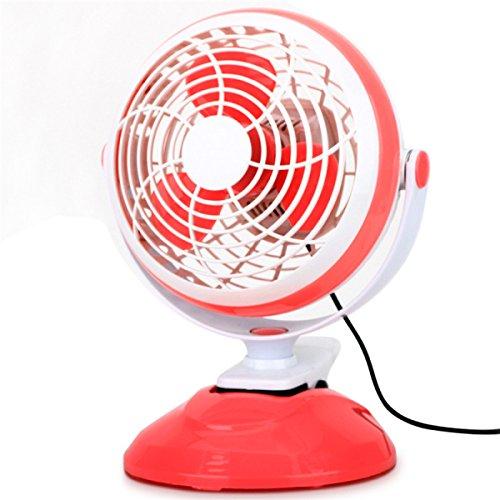 ROMEYA Kreativ Mode 6-Zoll USB Zweistufige Super-Windgeschwindigkeit Tisch Ordner Fan,Red (Ordner-fan)