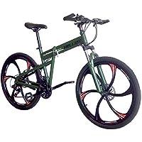 Helliot Bikes Hummer 02 Bicicleta de montaña Plegable, Adultos Unisex, Verde Militar, ...