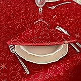 """Bg Europe Tovaglioli con stelle di Natale di alta qualità; Ref. Christmas Star Red, Trattamento anti macchia, colore rosso (6 tovaglioli 18 x 18"""" 45 x 45cm)"""