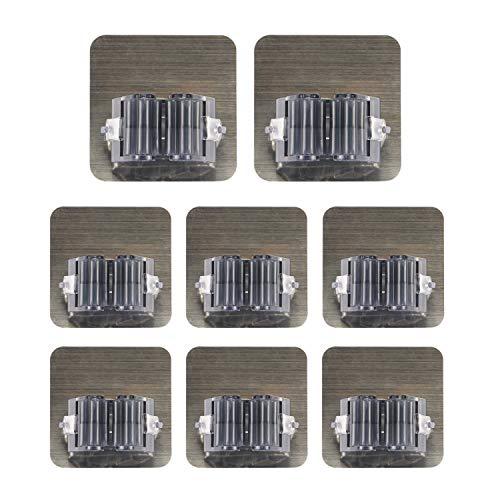 Porta scopa robako porta scopa autoadesiva portaoggetti a muro adatto per cucina bagno giardino e ufficio impermeabile e senza unghie (nero 8 pezzi)