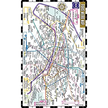 Streetwise Paris Metro Map