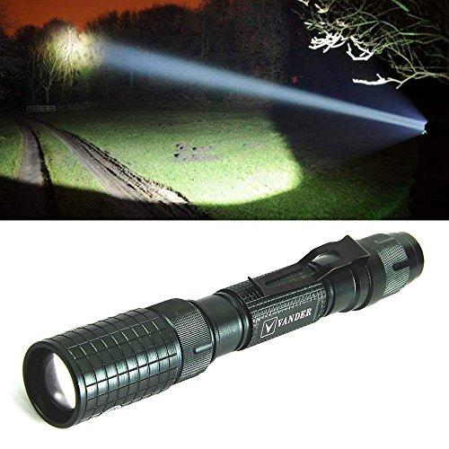 Torcia led, impermeabile ultra luminoso 5000 lumen tascabile torcia, modalità zoom regolabile torcia da campeggio, alimentato da batterie 18650