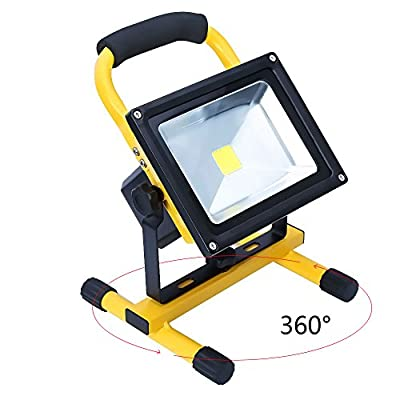 Hotrose 20W Flood Light Portable Rechargeable LED Work Light for Camping - inexpensive UK light store.