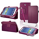 "HOTSALEUK Samsung Galaxy Tab 3 7.0 7-inch Leather Case Cover and Flip Stand, Bonus: Screen Protector + Stylus Pen (for Galaxy Tab 3 7"" INCH P3200/ P3210, WiFi or 3G+WiFi), by hotasleuk Store®, Seller of Best Selling Galaxy Tab 2 7-inch Case (HOT PINK)"