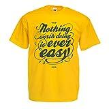 Maglietta da uomo citazioni motivazionali per la vita - Vintage Inspirational divertenti modi di dire (Medium Giallo Multicolore)