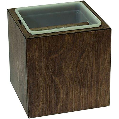 Abschlagbehälter Abklopfbehälter für Kaffeesatz Classic braun / brown