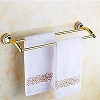 ZHGI Alluminio doppio oro Europeo asciugamano spazio rack blu e bianco porcellana asciugamano da bagno bar