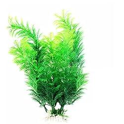 Youkara Künstliche Wasserpflanzen für Aquarien 30 cm Grün