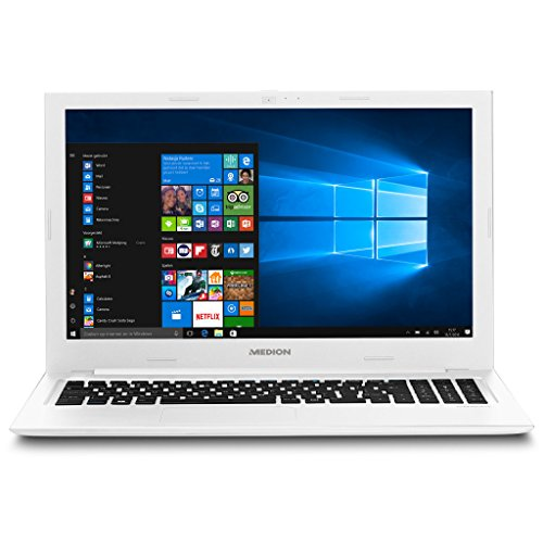 MEDION AKOYA S6421 39,6 cm (15,6 Zoll Full HD) Notebook (Intel Core i5-6200U, 8 GB DDR3 RAM, 512 GB SSD, Intel HD, WLAN, USB 3.0, BT 4.0, Win 10 Home) weiß