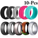 Fascigirl 10PCS Silicone Rings Multifunctional Wedding Bands for Sports