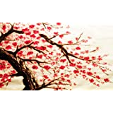 LARGE CHERRY BLOSSOM PAINTING box canvas ready to hang 34 x 20 inches by Canvas Interiors