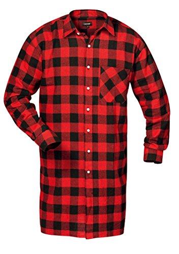 Feldtmann - T-shirt - À Carreaux - Unisexe - Adulte Rouge / Noir