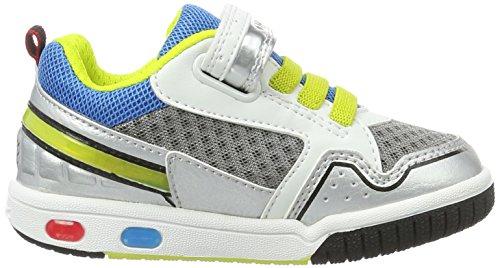 Geox Jr Gregg A, Sneakers Basses Garçon Multicolore (White/limec0810)