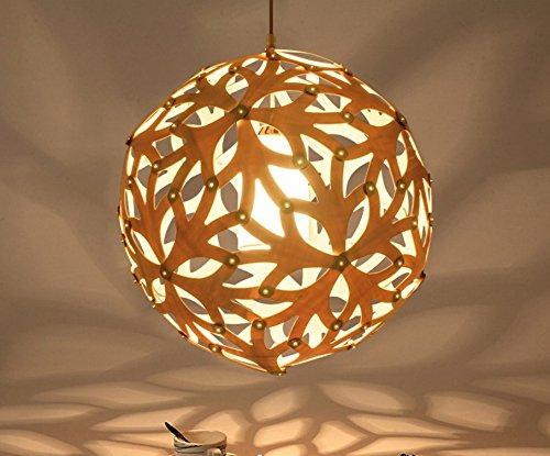 SJUN Kreatives Aus Holz Kronleuchter Amerikanischen Hölzernen Kugellampen 48Cm